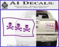 Jolly Roger Christopher Condent Pirate Flag SL Decal Sticker Purple Vinyl 120x97
