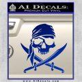 Jolly Roger Decal Sticker Pirate Crossbones D2 Blue Vinyl 120x120