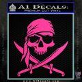 Jolly Roger Decal Sticker Pirate Crossbones D2 Hot Pink Vinyl 120x120
