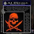 Jolly Roger Decal Sticker Pirate Crossbones D2 Orange Vinyl Emblem 120x120