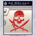 Jolly Roger Decal Sticker Pirate Crossbones D2 Red Vinyl 120x120