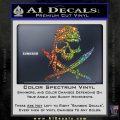 Jolly Roger Decal Sticker Pirate Crossbones D2 Sparkle Glitter Vinyl 120x120