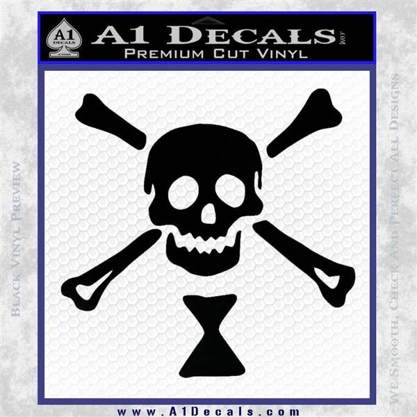 Jolly Roger Emanuel Wynne Crossbones Decal Sticker Black Logo Emblem