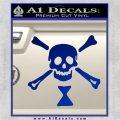 Jolly Roger Emanuel Wynne Crossbones Decal Sticker Blue Vinyl 120x120