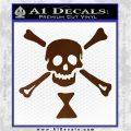 Jolly Roger Emanuel Wynne Crossbones Decal Sticker Brown Vinyl 120x120