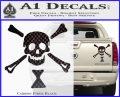 Jolly Roger Emanuel Wynne Crossbones Decal Sticker Carbon Fiber Black 120x97