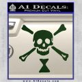 Jolly Roger Emanuel Wynne Crossbones Decal Sticker Dark Green Vinyl 120x120
