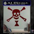 Jolly Roger Emanuel Wynne Crossbones Decal Sticker Dark Red Vinyl 120x120