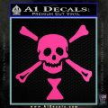Jolly Roger Emanuel Wynne Crossbones Decal Sticker Hot Pink Vinyl 120x120