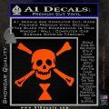 Jolly Roger Emanuel Wynne Crossbones Decal Sticker Orange Vinyl Emblem 120x120