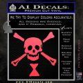 Jolly Roger Emanuel Wynne Crossbones Decal Sticker Pink Vinyl Emblem 120x120