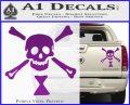 Jolly Roger Emanuel Wynne Crossbones Decal Sticker Purple Vinyl 120x97