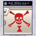 Jolly Roger Emanuel Wynne Crossbones Decal Sticker Red Vinyl 120x120