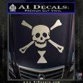 Jolly Roger Emanuel Wynne Crossbones Decal Sticker Silver Vinyl 120x120