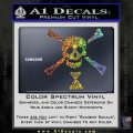 Jolly Roger Emanuel Wynne Crossbones Decal Sticker Sparkle Glitter Vinyl 120x120
