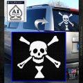Jolly Roger Emanuel Wynne Crossbones Decal Sticker White Emblem 120x120