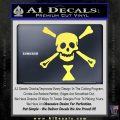 Jolly Roger Emanuel Wynne Crossbones Decal Sticker Yelllow Vinyl 120x120