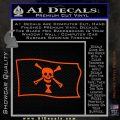 Jolly Roger Emanuel Wynne Pirate Flag SL Decal Sticker Orange Vinyl Emblem 120x120