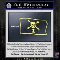 Jolly Roger Emanuel Wynne Pirate Flag SL Decal Sticker Yelllow Vinyl 120x120