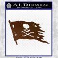 Jolly Roger Pirate Flag D2 Decal Sticker Brown Vinyl 120x120