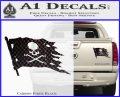 Jolly Roger Pirate Flag D2 Decal Sticker Carbon Fiber Black 120x97