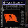 Jolly Roger Pirate Flag D2 Decal Sticker Orange Vinyl Emblem 120x120