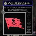 Jolly Roger Pirate Flag D2 Decal Sticker Pink Vinyl Emblem 120x120
