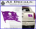 Jolly Roger Pirate Flag D2 Decal Sticker Purple Vinyl 120x97