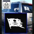 Jolly Roger Pirate Flag D2 Decal Sticker White Emblem 120x120