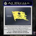 Jolly Roger Pirate Flag D2 Decal Sticker Yelllow Vinyl 120x120