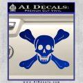 Jolly Roger Richard Worley Crossbones Decal Sticker. Blue Vinyl 120x120