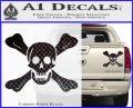 Jolly Roger Richard Worley Crossbones Decal Sticker. Carbon Fiber Black 120x97