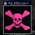 Jolly Roger Richard Worley Crossbones Decal Sticker. Hot Pink Vinyl 120x120