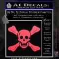 Jolly Roger Richard Worley Crossbones Decal Sticker. Pink Vinyl Emblem 120x120
