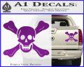 Jolly Roger Richard Worley Crossbones Decal Sticker. Purple Vinyl 120x97