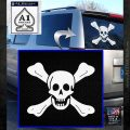 Jolly Roger Richard Worley Crossbones Decal Sticker. White Emblem 120x120