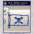 Jolly Roger Richard Worley Pirate Flag INT Decal Sticker Blue Vinyl 120x120
