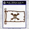 Jolly Roger Richard Worley Pirate Flag INT Decal Sticker Brown Vinyl 120x120