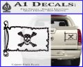 Jolly Roger Richard Worley Pirate Flag INT Decal Sticker Carbon Fiber Black 120x97