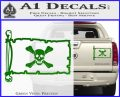 Jolly Roger Richard Worley Pirate Flag INT Decal Sticker Green Vinyl 120x97