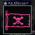 Jolly Roger Richard Worley Pirate Flag INT Decal Sticker Hot Pink Vinyl 120x120