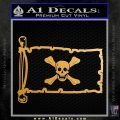 Jolly Roger Richard Worley Pirate Flag INT Decal Sticker Metallic Gold Vinyl 120x120