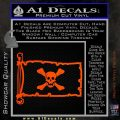 Jolly Roger Richard Worley Pirate Flag INT Decal Sticker Orange Vinyl Emblem 120x120