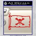 Jolly Roger Richard Worley Pirate Flag INT Decal Sticker Red Vinyl 120x120