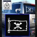 Jolly Roger Richard Worley Pirate Flag INT Decal Sticker White Emblem 120x120