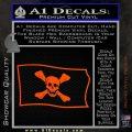 Jolly Roger Richard Worley Pirate Flag SL Decal Sticker. Orange Vinyl Emblem 120x120