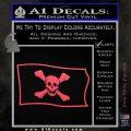 Jolly Roger Richard Worley Pirate Flag SL Decal Sticker. Pink Vinyl Emblem 120x120