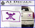 Jolly Roger Richard Worley Pirate Flag SL Decal Sticker. Purple Vinyl 120x97