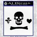 Jolly Roger Stede Bonnet Crossbones Decal Sticker. Black Logo Emblem 120x120