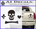 Jolly Roger Stede Bonnet Crossbones Decal Sticker. Carbon Fiber Black 120x97